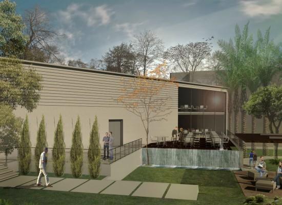 مشروع القاعة الرياضية والكافتيريا والحديقة