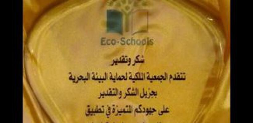 العلم الأخضر لمدرسة الأمير حمزة بن الحسين //المدارس البيئية